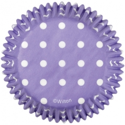 Wilton Baking Cups Dots -Purple- pk/75