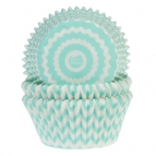 House of Marie Baking Cups Chevron Mint pk/50